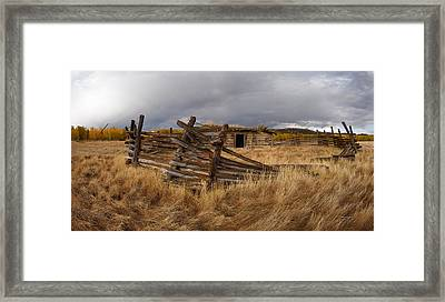 Historical Cabin Montana Framed Print by Leland D Howard