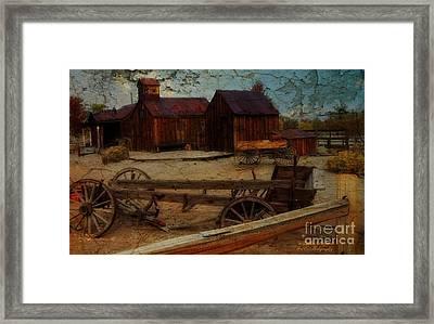 Historical Ferretto Ranch Framed Print by Bobbee Rickard
