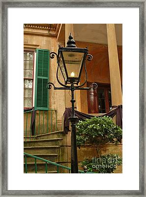 Historical Gas Light Framed Print