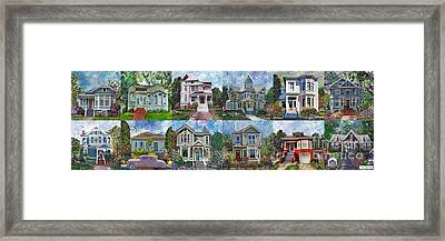 Historical Homes Framed Print by Linda Weinstock