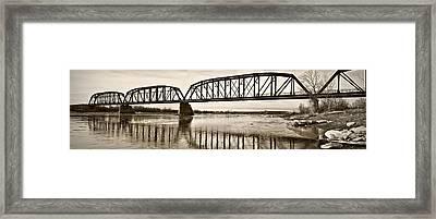 Historical Kinsey Bridge Framed Print