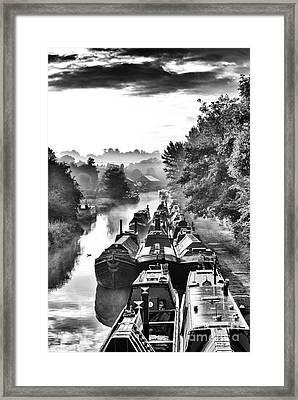 Historical Narrowboats Framed Print
