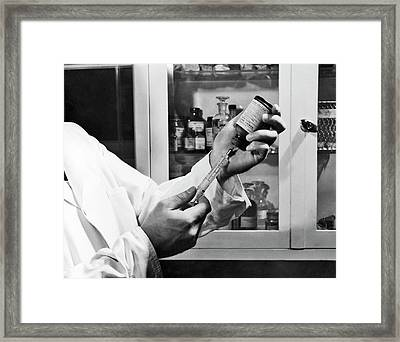 Historical Rabies Vaccine Research Framed Print by Cdc
