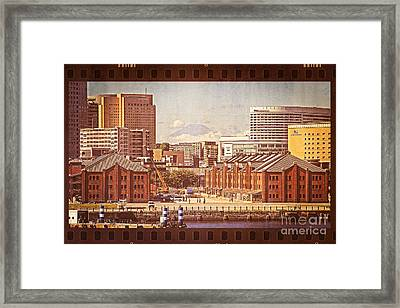 Historical Red Brick Warehouses Framed Print