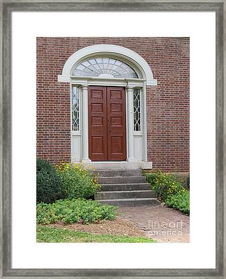 Historical Red Door Framed Print by Aimee Mouw
