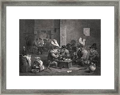 Historical Satire, Historical Artwork Framed Print by Science Photo Library