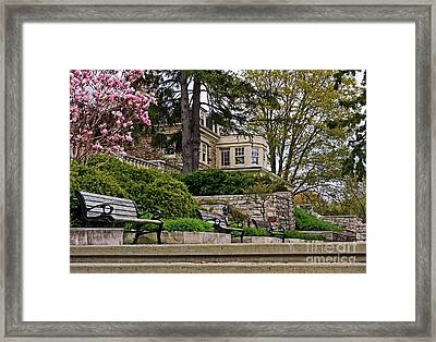 Historical Victorian Mansion In Burlington Framed Print