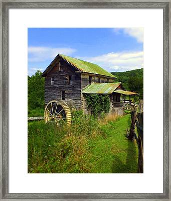 Historical Whites Mill Framed Print by Karen Wiles