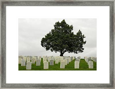 Historically Remembered - Little Big Horn Cemertry Framed Print by Clay and Gill Ross