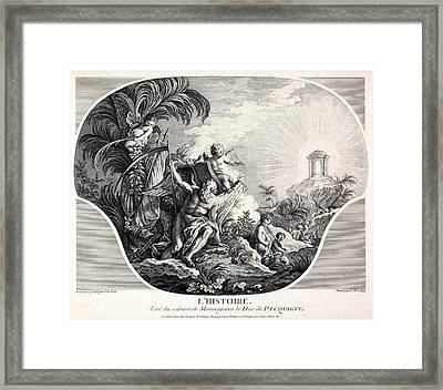 History Allegory, 18th-century Artwork Framed Print by Science Photo Library