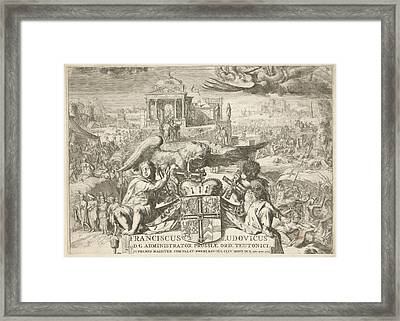 History And Work Of The Teutonic Order Coat Of Arms Framed Print by Romeyn De Hooghe