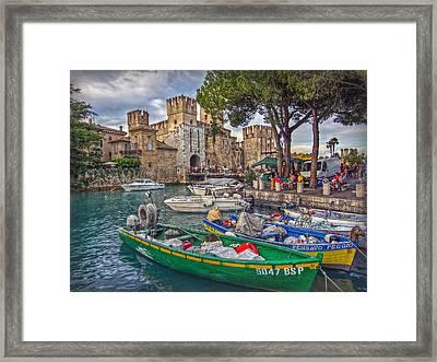 History At Lake Garda Framed Print