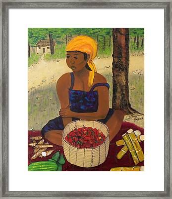 History Behind Caribbean Food Produces Framed Print