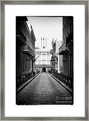 History In San Juan Framed Print by John Rizzuto