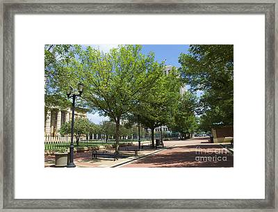 History -  Lincoln Square Springfield Il - Luther Fine Art Framed Print