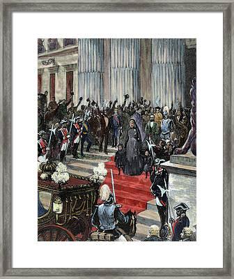 History Of Spain Framed Print by Prisma Archivo