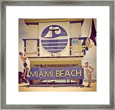 South Beach Framed Print by Lisa Piper