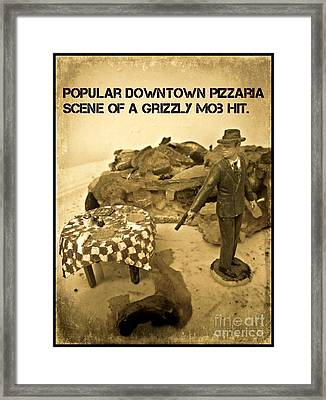 Hit On A Pizza Framed Print by John Malone