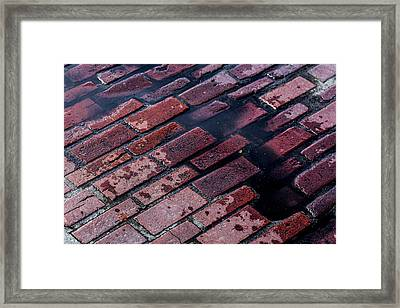 Hit The Bricks Framed Print by Andrew Pacheco