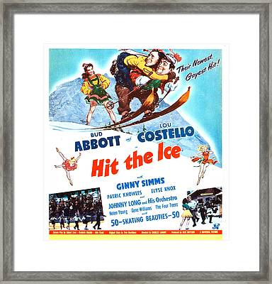Hit The Ice, Us Poster, From Left Ginny Framed Print by Everett
