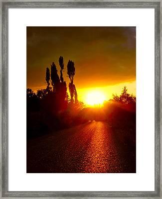 Hit The Road Jack Framed Print by Zafer Gurel