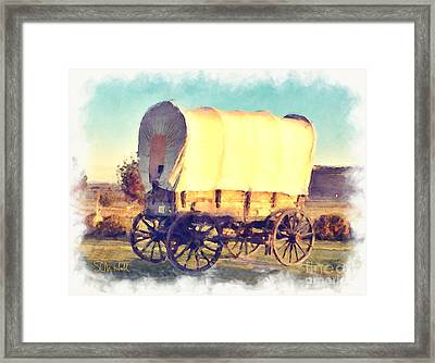 Hitch Your Wagon Framed Print