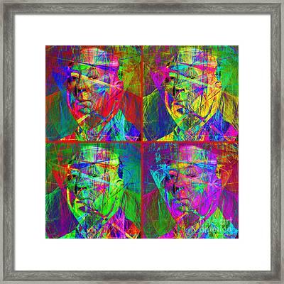 Hitchcock 20130618 Four Squares Framed Print