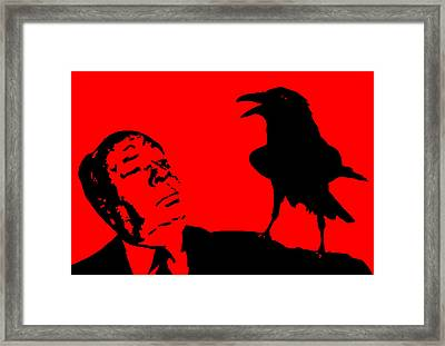 Hitchcock In Red Framed Print by Jera Sky