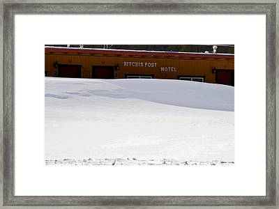 Hitchin' Post April Framed Print