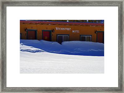 Hitchin' Post March Framed Print by Jeremy Rhoades