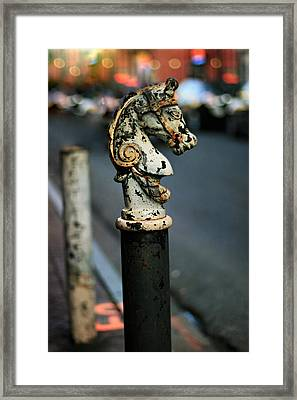 Framed Print featuring the photograph Hitching Post #1 by Heather Green