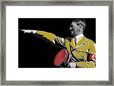 Hitler Saluting #1 Circa 1933-2012  Framed Print by David Lee Guss