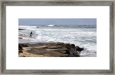 Hittin The Breakers Framed Print by Peter Tellone
