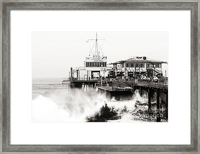 Hitting The Santa Monica Pier Framed Print by John Rizzuto