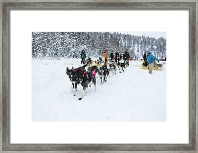 Hitting The Snowy Trail Framed Print