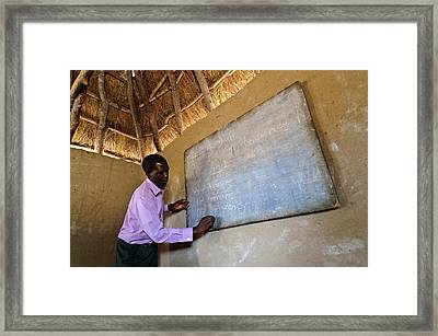 Hiv Aids Education Framed Print