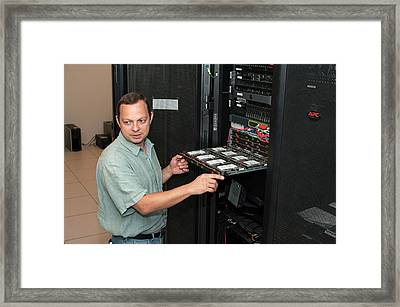 Hive Biological Research Computer Framed Print by Michael J. Ermarth/food & Drug Administration