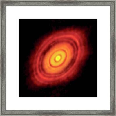Hl Tauri Protoplanetary Disk Framed Print by Alma (nrao/eso/naoj)/c. Brogan, B. Saxton (nrao/aui/nsf)