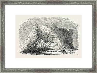 H.m. Arctic Steam Vessel Intrepid Driven Forty Feet Up An Framed Print