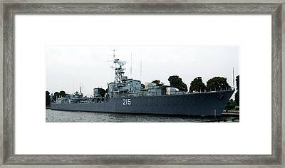 Hmcs Haida Twin Gun Tribal Class Destroyer  Framed Print by Danielle  Parent
