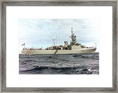 Hmcs Yukon - In Pacific Framed Print