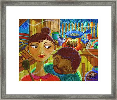 Hmmm... Amoy Pinipig Framed Print by Paul Hilario