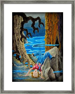 Framed Print featuring the painting Hmmmmm by Matt Konar