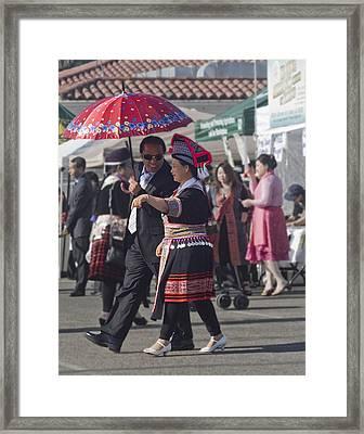 Hmong Couple Framed Print by Alice Ramirez