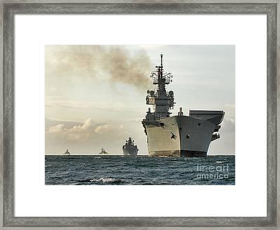 Hms Ark Royal  Framed Print by Paul Fearn
