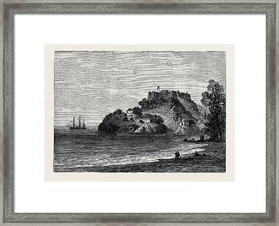 H.m.s. Bacchante Off Fort George Grenada 1880 Framed Print