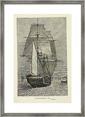 Hms Beagle Framed Print by British Library