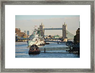 Hms Belfast London Framed Print