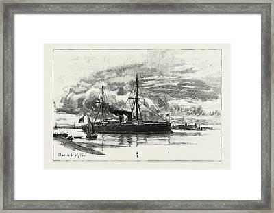 H.m.s. Blake, The Protected Cruiser Recently Launched Framed Print by Litz Collection