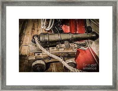 Hms Bounty Gibson Cannon II Framed Print